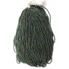 Seedbead Opaque Iris Green 10/0 Strung